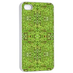 Digital Nature Collage Pattern Apple Iphone 4/4s Seamless Case (white)