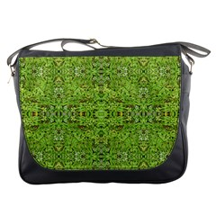 Digital Nature Collage Pattern Messenger Bags