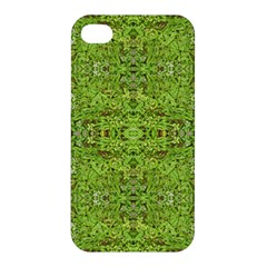 Digital Nature Collage Pattern Apple Iphone 4/4s Premium Hardshell Case