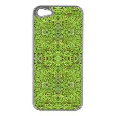 Digital Nature Collage Pattern Apple Iphone 5 Case (silver)