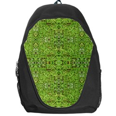 Digital Nature Collage Pattern Backpack Bag