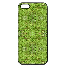 Digital Nature Collage Pattern Apple Iphone 5 Seamless Case (black)