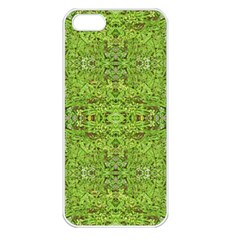 Digital Nature Collage Pattern Apple Iphone 5 Seamless Case (white)