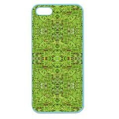 Digital Nature Collage Pattern Apple Seamless Iphone 5 Case (color)