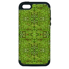Digital Nature Collage Pattern Apple Iphone 5 Hardshell Case (pc+silicone)
