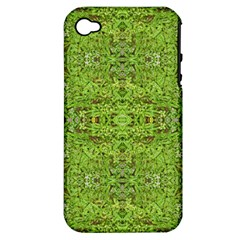 Digital Nature Collage Pattern Apple Iphone 4/4s Hardshell Case (pc+silicone)