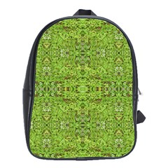 Digital Nature Collage Pattern School Bag (xl)