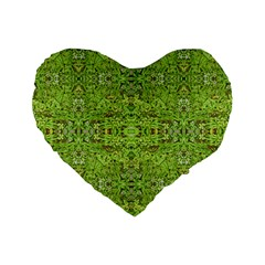 Digital Nature Collage Pattern Standard 16  Premium Heart Shape Cushions