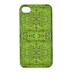 Digital Nature Collage Pattern Apple Iphone 4/4s Hardshell Case With Stand