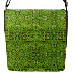 Digital Nature Collage Pattern Flap Messenger Bag (s)