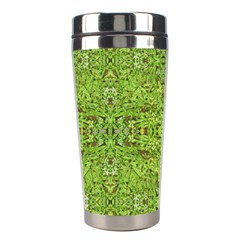 Digital Nature Collage Pattern Stainless Steel Travel Tumblers