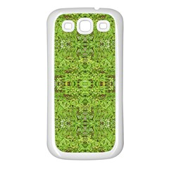 Digital Nature Collage Pattern Samsung Galaxy S3 Back Case (white)