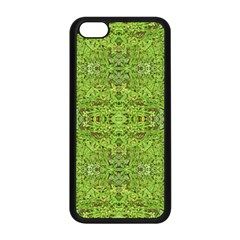 Digital Nature Collage Pattern Apple Iphone 5c Seamless Case (black)