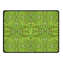 Digital Nature Collage Pattern Double Sided Fleece Blanket (small)