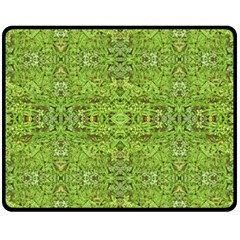 Digital Nature Collage Pattern Double Sided Fleece Blanket (medium)