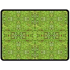 Digital Nature Collage Pattern Double Sided Fleece Blanket (large)