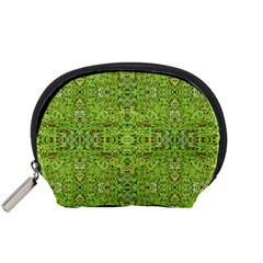 Digital Nature Collage Pattern Accessory Pouches (small)