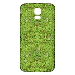 Digital Nature Collage Pattern Samsung Galaxy S5 Back Case (white)