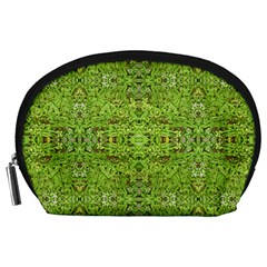 Digital Nature Collage Pattern Accessory Pouches (large)