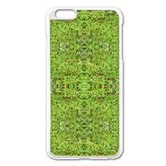 Digital Nature Collage Pattern Apple Iphone 6 Plus/6s Plus Enamel White Case