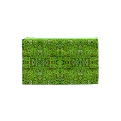 Digital Nature Collage Pattern Cosmetic Bag (xs)
