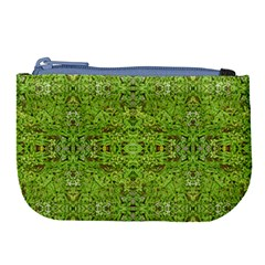 Digital Nature Collage Pattern Large Coin Purse