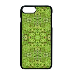Digital Nature Collage Pattern Apple Iphone 7 Plus Seamless Case (black)
