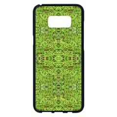 Digital Nature Collage Pattern Samsung Galaxy S8 Plus Black Seamless Case