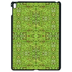 Digital Nature Collage Pattern Apple Ipad Pro 9 7   Black Seamless Case