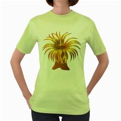 Sea Anemone Women s Green T Shirt