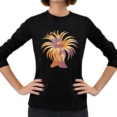 Sea Anemone Women s Long Sleeve Dark T Shirts