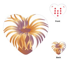 Sea Anemone Playing Cards (heart)