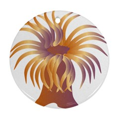 Sea Anemone Round Ornament (two Sides)