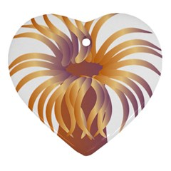 Sea Anemone Heart Ornament (two Sides)