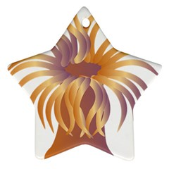Sea Anemone Star Ornament (two Sides)