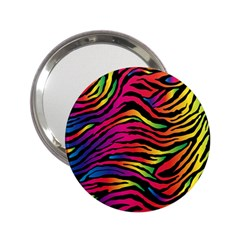 Rainbow Zebra 2 25  Handbag Mirrors