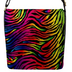 Rainbow Zebra Flap Messenger Bag (s)