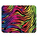 Rainbow Zebra Double Sided Flano Blanket (Large)   Blanket Back