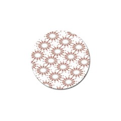 Pattern Flower Floral Star Circle Love Valentine Heart Pink Red Folk Golf Ball Marker (10 Pack)