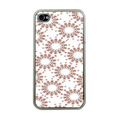 Pattern Flower Floral Star Circle Love Valentine Heart Pink Red Folk Apple Iphone 4 Case (clear)