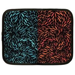 Square Pheonix Blue Orange Red Netbook Case (xxl)