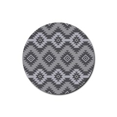 Triangle Wave Chevron Grey Sign Star Rubber Coaster (round)