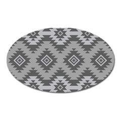 Triangle Wave Chevron Grey Sign Star Oval Magnet