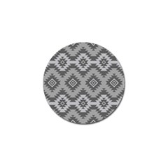 Triangle Wave Chevron Grey Sign Star Golf Ball Marker (10 Pack)