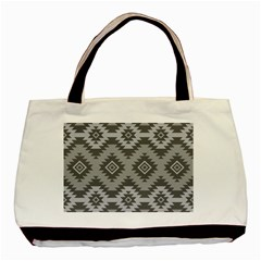 Triangle Wave Chevron Grey Sign Star Basic Tote Bag (two Sides)