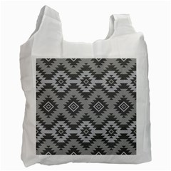 Triangle Wave Chevron Grey Sign Star Recycle Bag (two Side)