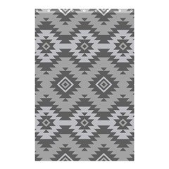 Triangle Wave Chevron Grey Sign Star Shower Curtain 48  X 72  (small)