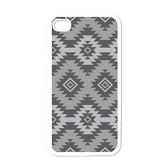 Triangle Wave Chevron Grey Sign Star Apple Iphone 4 Case (white)
