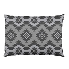 Triangle Wave Chevron Grey Sign Star Pillow Case (two Sides)