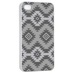 Triangle Wave Chevron Grey Sign Star Apple Iphone 4/4s Seamless Case (white)